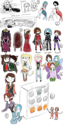 A Bunch Of Doodles by HawkeBae