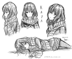 Kaya sketches by emarex96