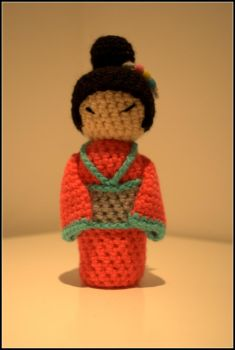 Pink Kokeshi by Orlien