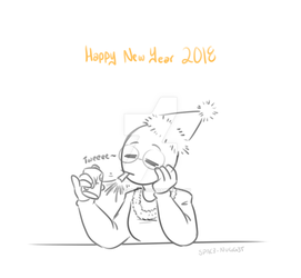 New Year 2018 by SPAC3-NUGG3T