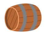 Barrel - laying, 3/4 view by MisterAibo