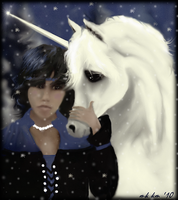 boy and his unicorn by mk-kayem
