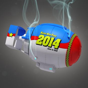 New Year Bomb Close-up by pixelquarry