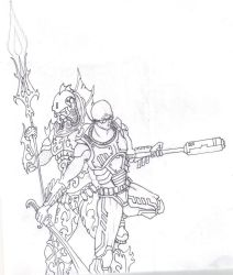 Hydran Imperial Guard And Clone Assassin by savagehenry89