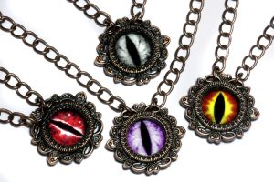 Dragon Eyes Necklace by CatherinetteRings
