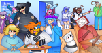 Art class with friends by Mr-Ms-Faded