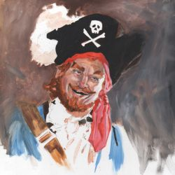 Pirate Auctioneer by monstercola
