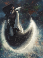 Moon Riding by 9ofcups