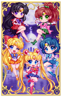 Sailor Scouts by AjamariesArt