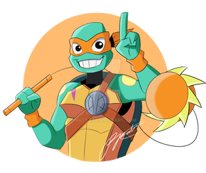 Michelangelo the funny one by NATSZ