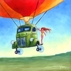 Balloon Over Engine by Varin-maeus