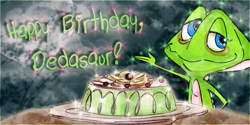 Dedasaur: Happy Birthday Siggie Like by koorihimesama
