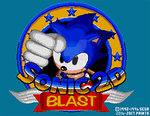 Sonic 2D Blast (Hack): Title Screen Concept by AsuharaMoon