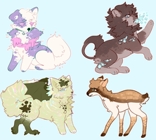 adoptables! by milkspills