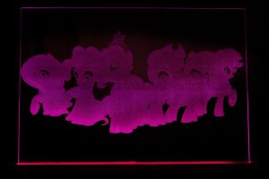 Another Mane 6 Acrylic LED Picture by steeph-k