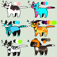 :OTA: Cat Adoptables 1/6 Open by galaxyantlers