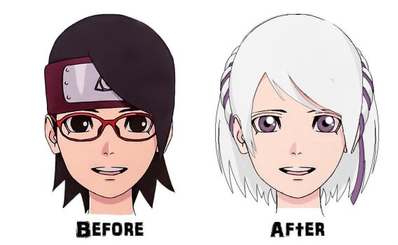 My Boruto OC Character, Made with Sarada's Shape by SachiShirakawa