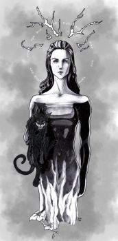 Jules n her kitty by diana6echo