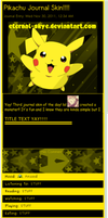 Pikachu Journal Skin by Eternal-Skye