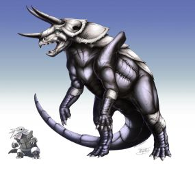 Realistic Pokemon: Aggron by ReneCampbellArt