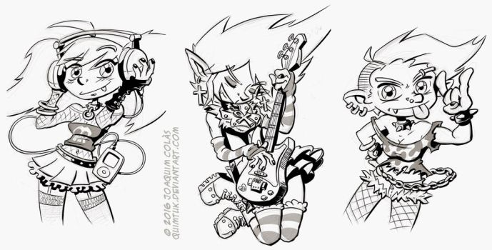 Rocker Impz (Sketch and Inks) by Quimtuk
