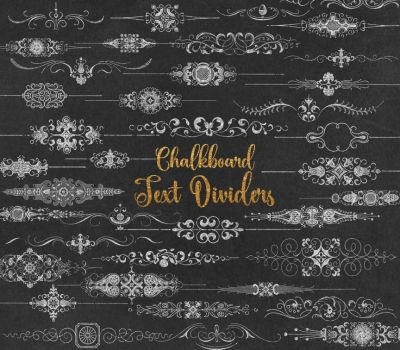 Chalkboard Text Dividers Clipart by OriginsDigitalCurio