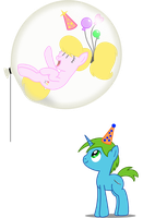 Giant birthday balloons by BladeDragoon7575