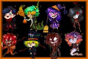 Halloween Chibi Adoptables- AUCTION (CLOSED) by DrawerMich