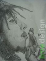 bob marley portrait by limeflavored