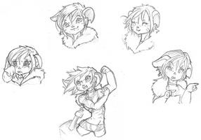 Yomm sketches by xAlalax