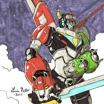 Inktober 2017 - Day-18 - Voltron by Spidersaiyan