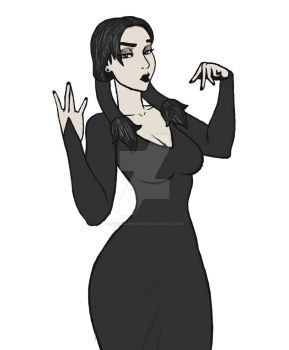 Wednesday Adams Fan Art by SelloutPinUp