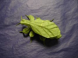 Origami Leaf Insect by origami-artist-galen