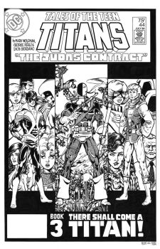 Tales of the Teen Titans #44 Cover Recreation by dalgoda7