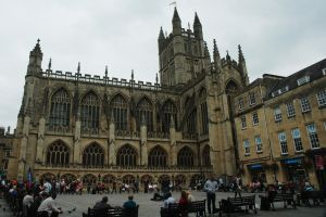 Bath Abbey and Square by Earth-Hart