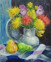 Still Life with Flowers by qi-art