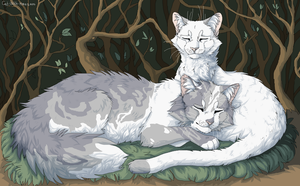 Thistleclaw and Snowfur by Cat-With-Horns