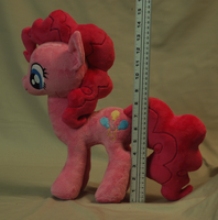 My Little Pony Pinkie Pie Plushie size reference by WhiteHeather