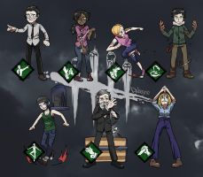 Dead By Daylight _ Survivors by dalsegno2525