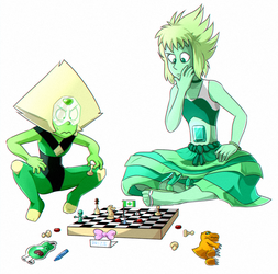 Peri and Emi serious battle by KyuubiCore