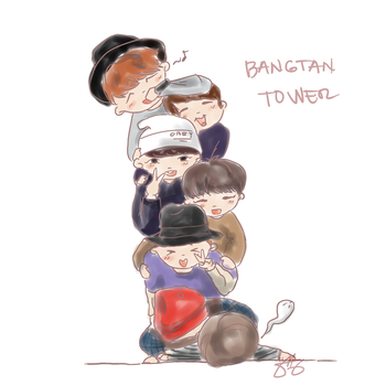 Bangtan Tower by alissarticuno