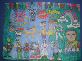 90s Classic Cartoon Old School Drawing Part 5 by NWeezyBlueStars23