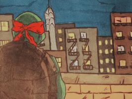 Raph and his city by turtletrashworld