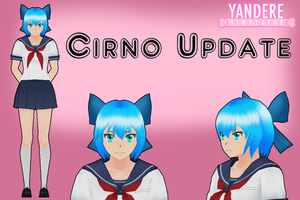 Yandere Simulator: Cirno Hair Update by Qvajangel