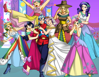 Commission: MLP Royal Wedding by jadenkaiba