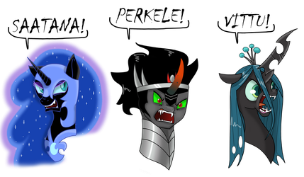 Swearing villains by SadlyLover
