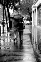 couple in the rain by transatlanticthought