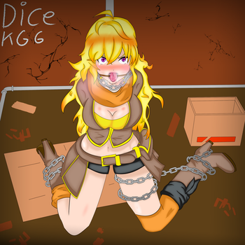 Yang Xiaolong RWBY Ring Gagged in the Alley by Dice-kgg
