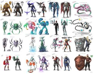 Skin Sketches 2 by VegaColors