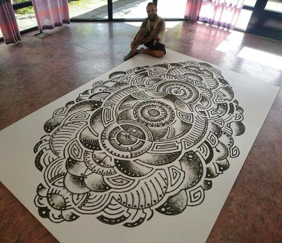 World's largest gun powder mandala :) by AtomiccircuS